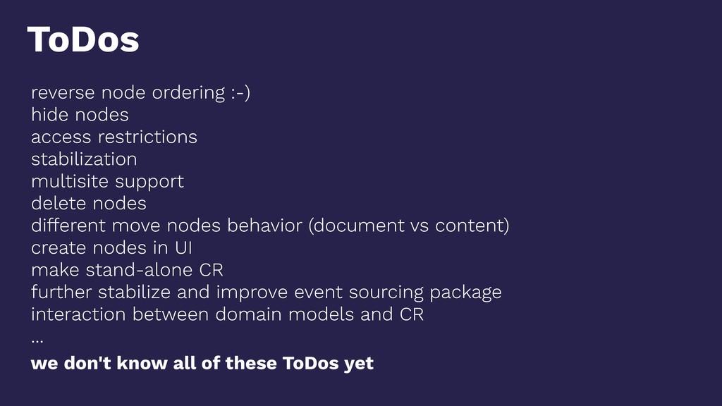 reverse node ordering :-) hide nodes access res...