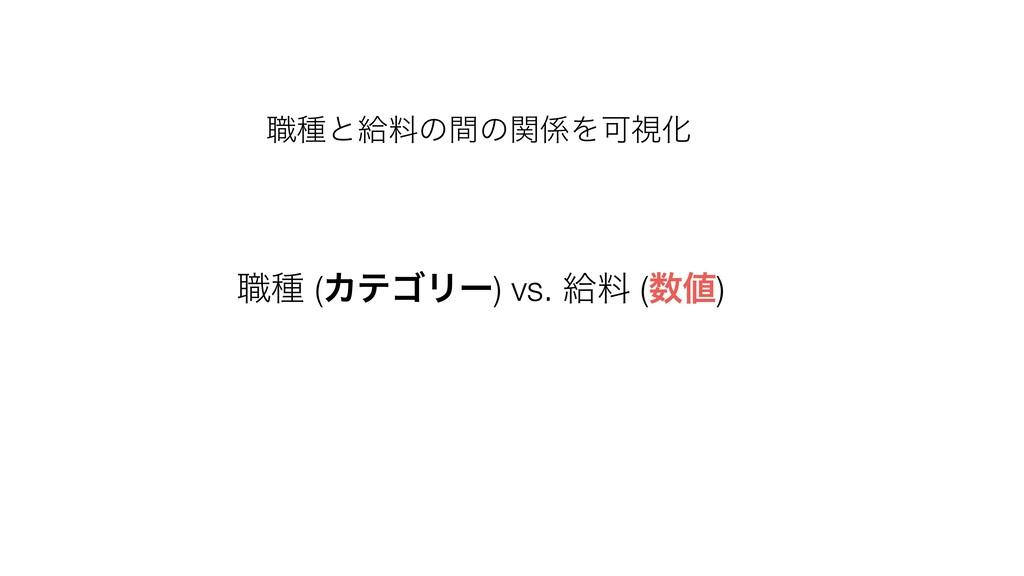 ৬छ (ΧςΰϦʔ) vs. څྉ () ৬छͱڅྉͷؒͷؔΛՄࢹԽ