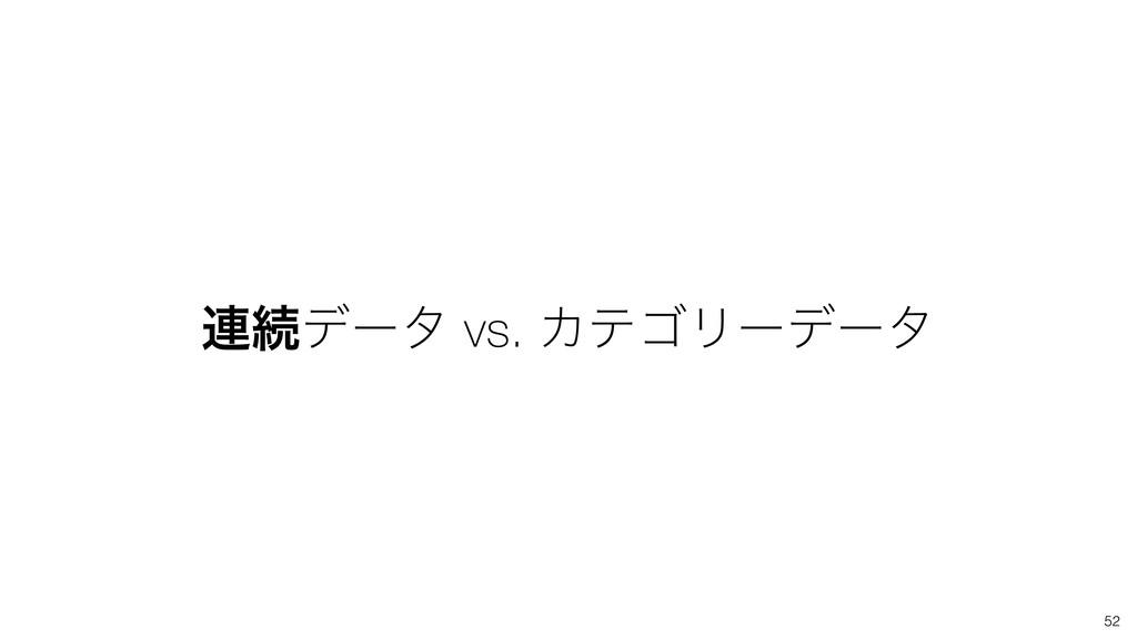 ࿈ଓσʔλ vs. ΧςΰϦʔσʔλ 52