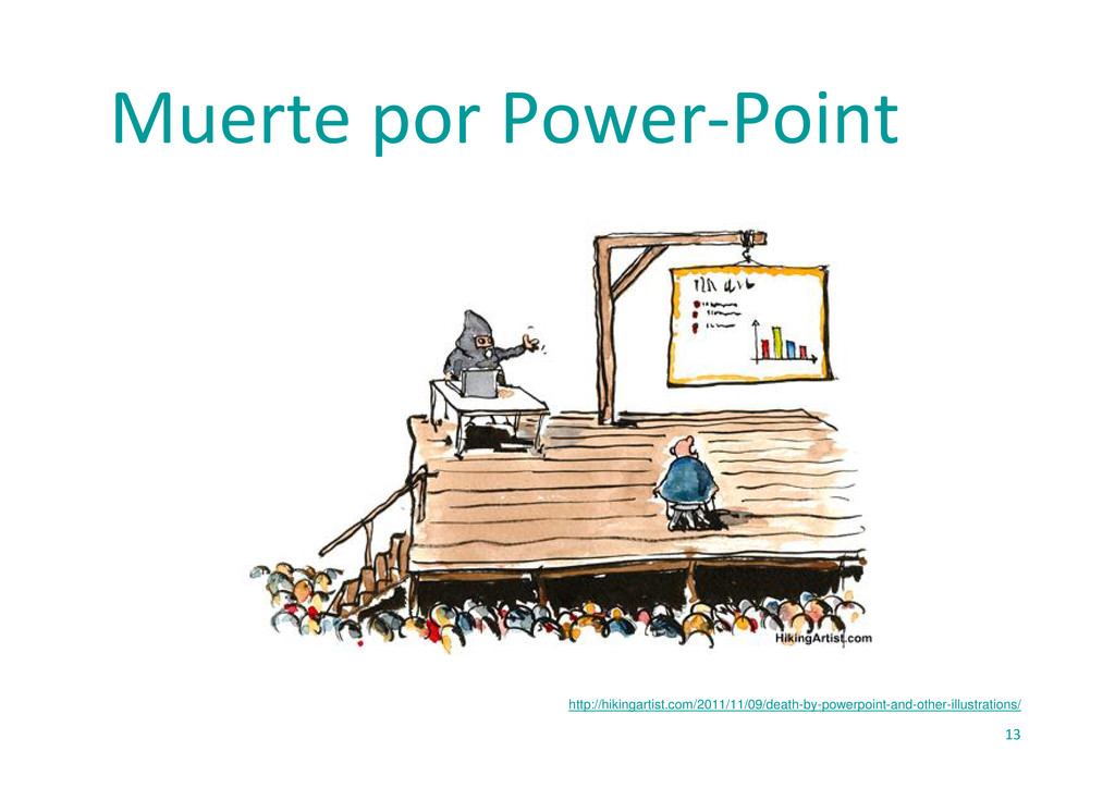 13 Muerte por Power‐Point http://hikingartist.c...