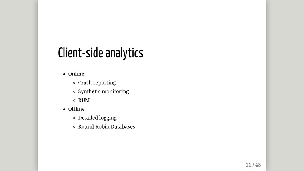 Client-side analytics Online Crash reporting Sy...