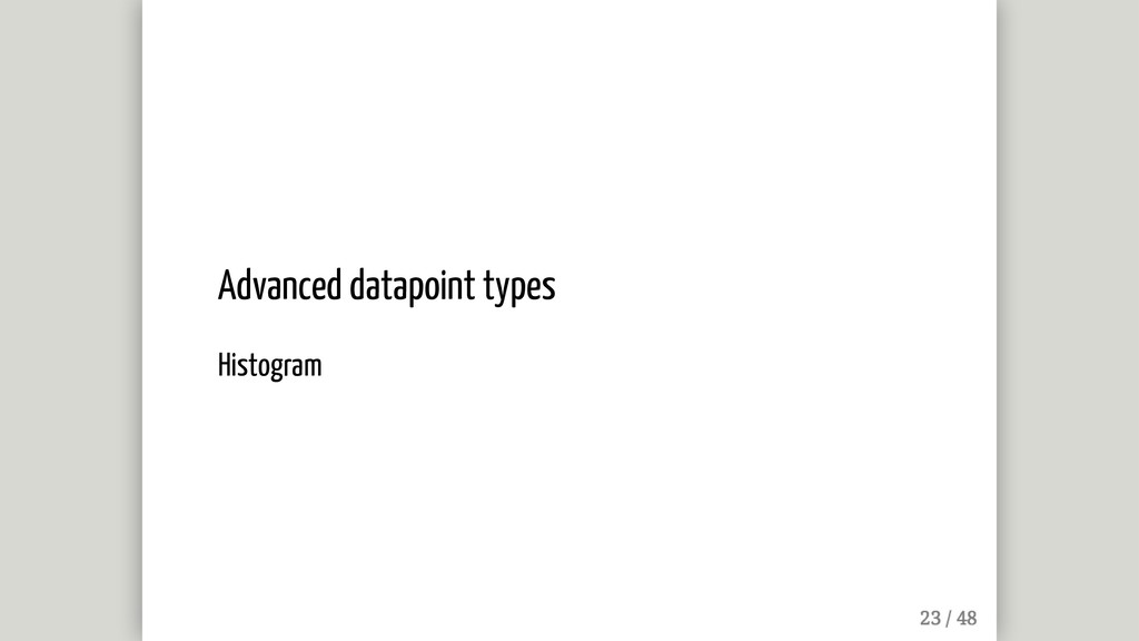 Advanced datapoint types Histogram