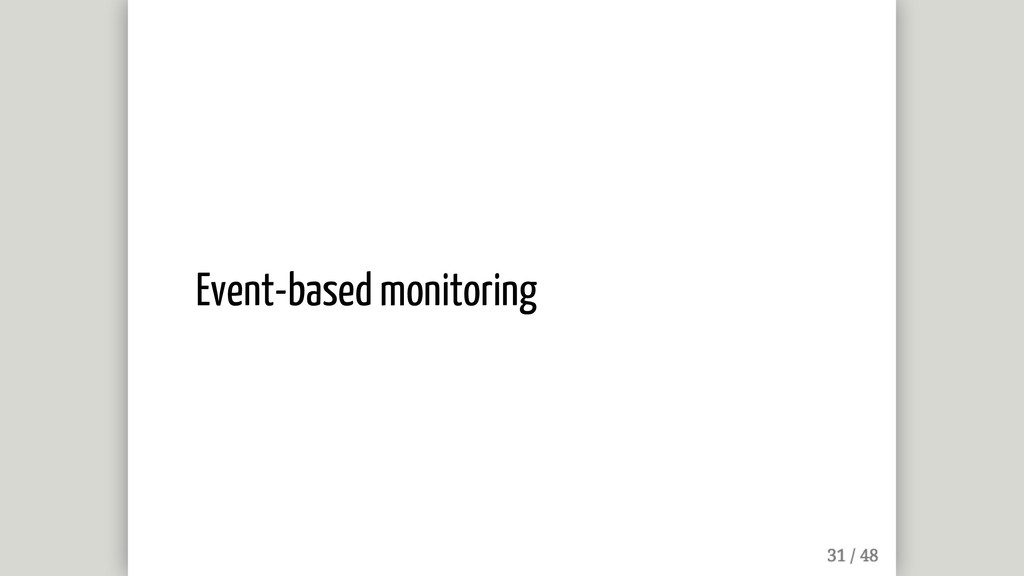 Event-based monitoring
