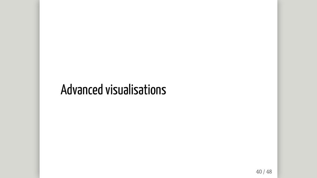 Advanced visualisations