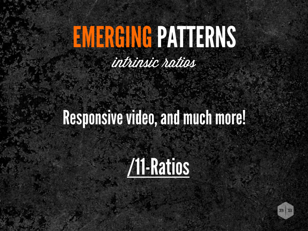 /11-Ratios EMERGING PATTERNS intrinsic atios Re...