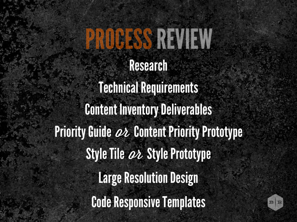 PROCESS REVIEW Research Technical Requirements ...