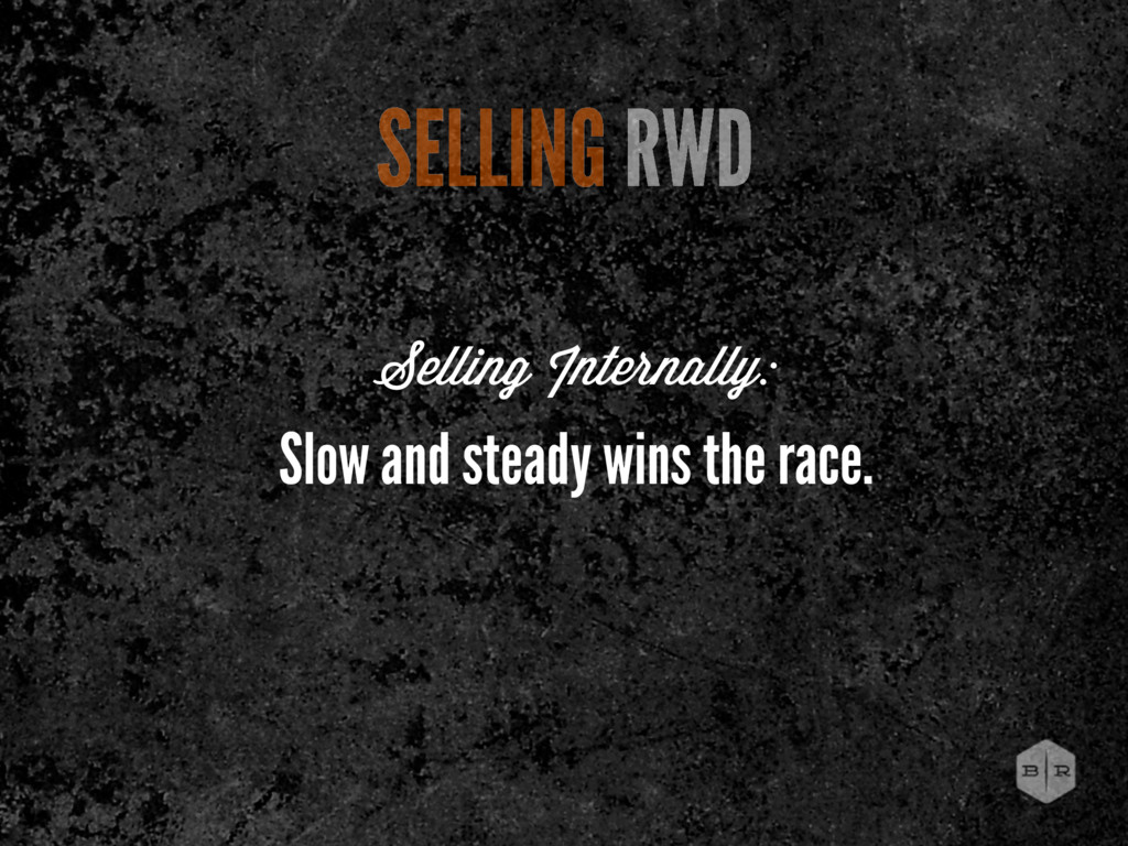 SELLING RWD Slow and steady wins the race. Sell...