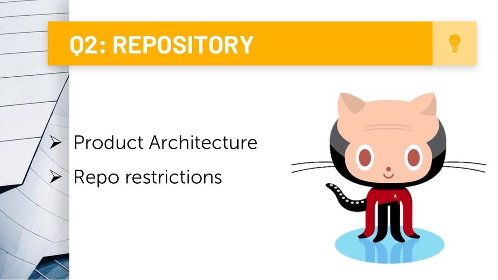 6 Q2: REPOSITORY Ø Product Architecture Ø Repo ...