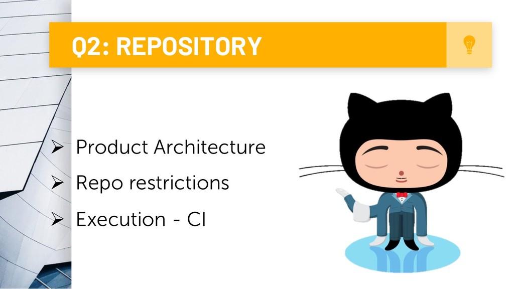 7 Q2: REPOSITORY Ø Product Architecture Ø Repo ...