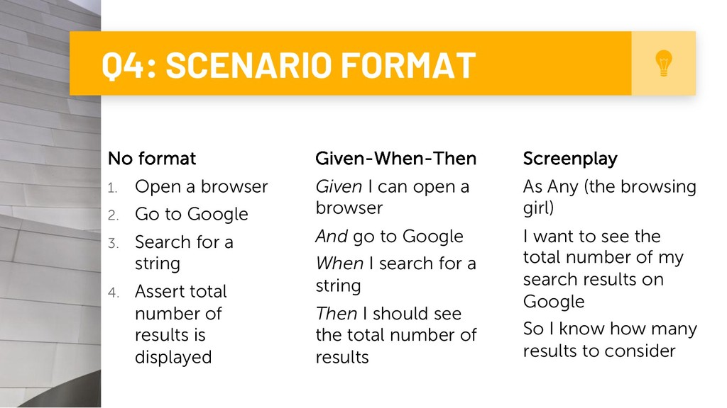 Q4: SCENARIO FORMAT 9 No format 1. Open a brows...
