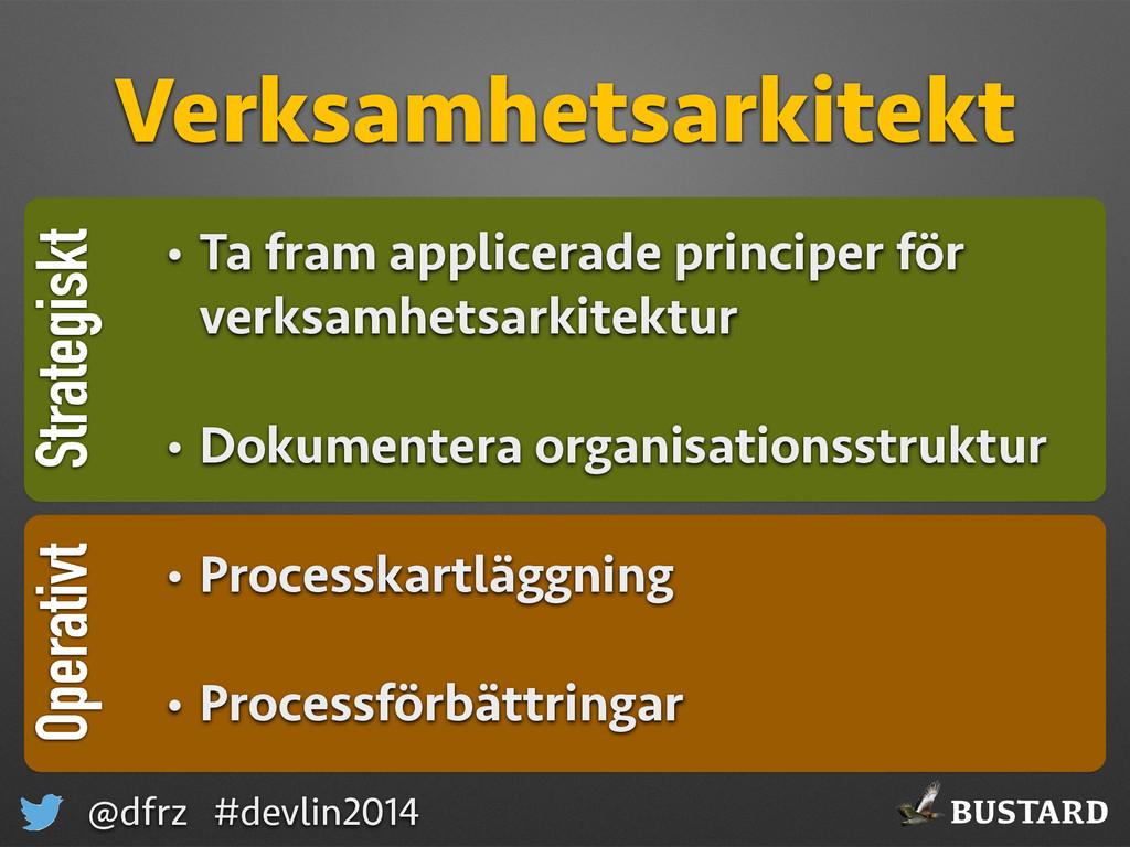 BUSTARD @dfrz #devlin2014 Strategiskt Verksamhe...