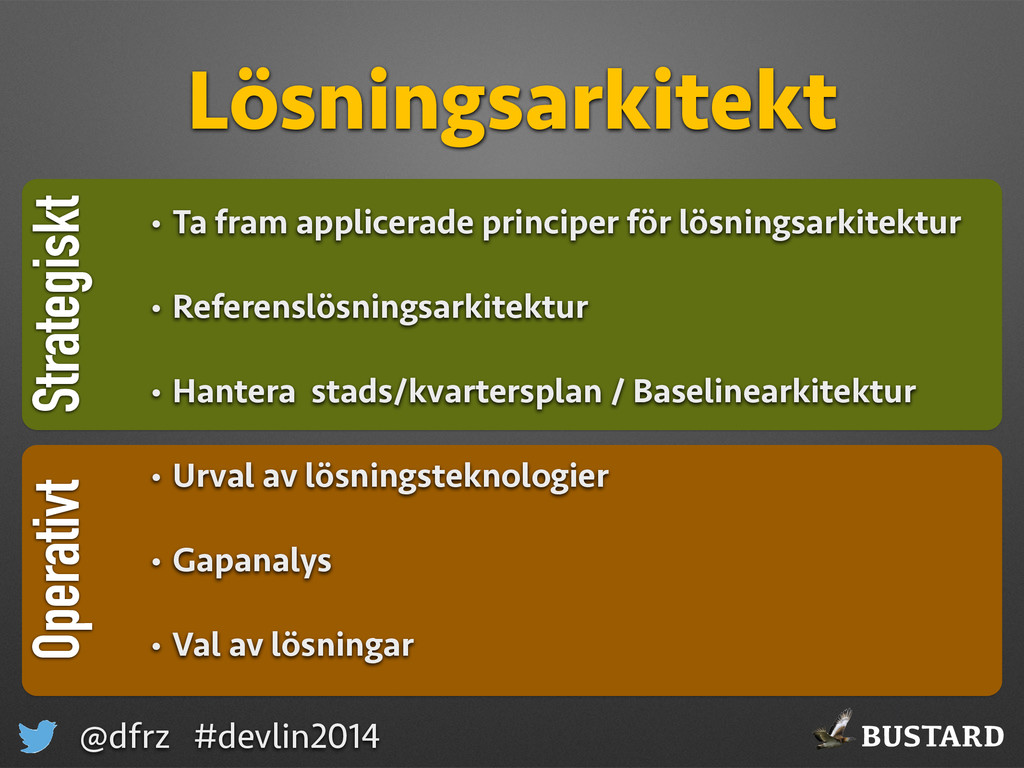 BUSTARD @dfrz #devlin2014 Strategiskt Lösningsa...