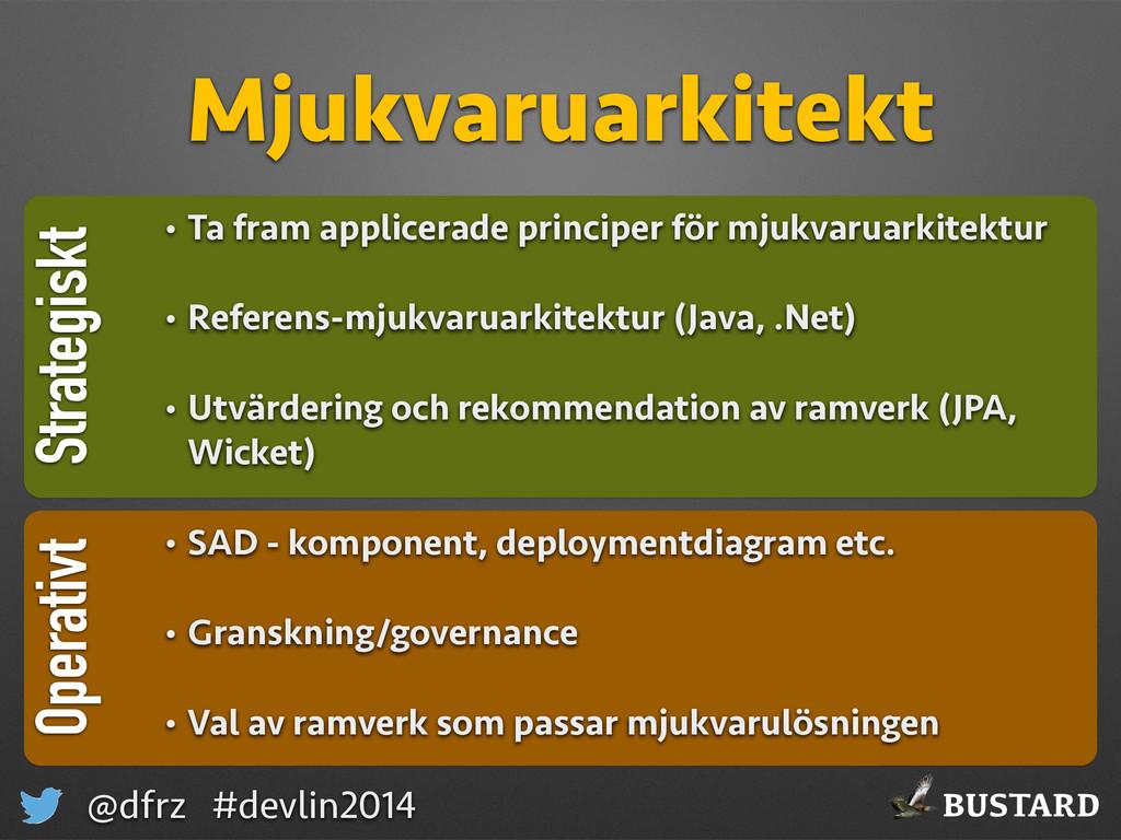 BUSTARD @dfrz #devlin2014 Strategiskt Mjukvarua...