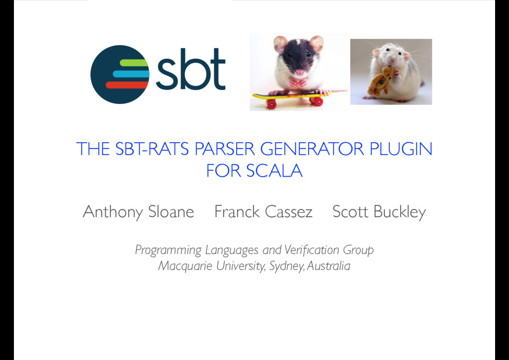 THE SBT-RATS PARSER GENERATOR PLUGIN FOR SCALA ...