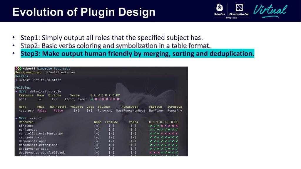 Evolution of Plugin Design • Step1: Simply outp...