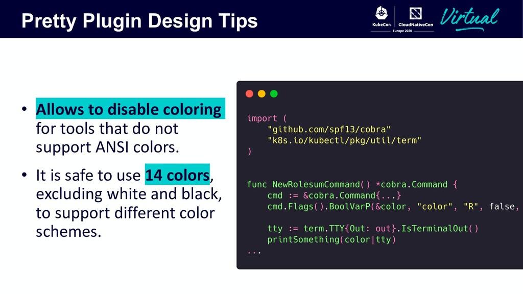 Pretty Plugin Design Tips • Allows to disable c...