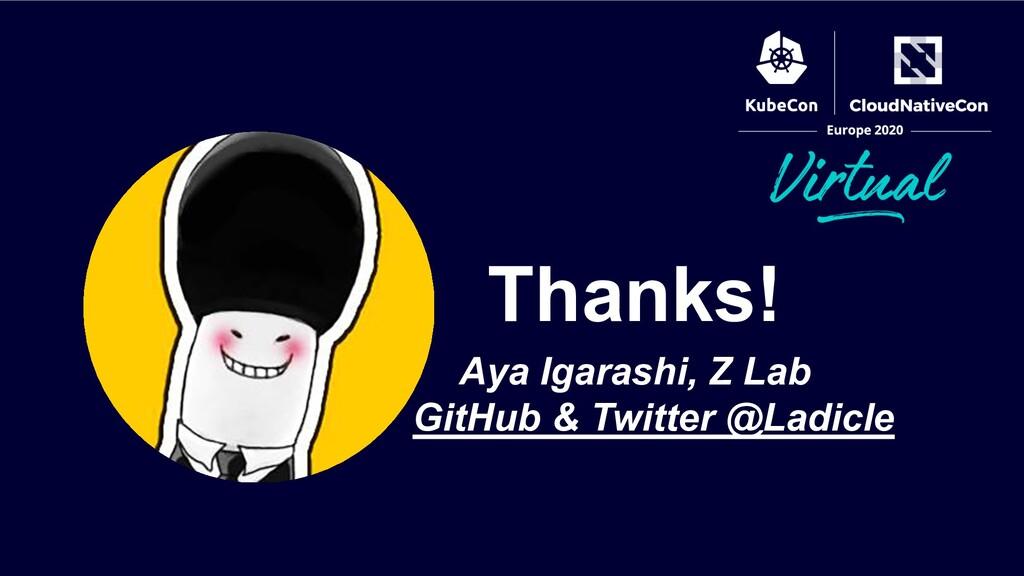 Aya Igarashi, Z Lab GitHub & Twitter @Ladicle T...