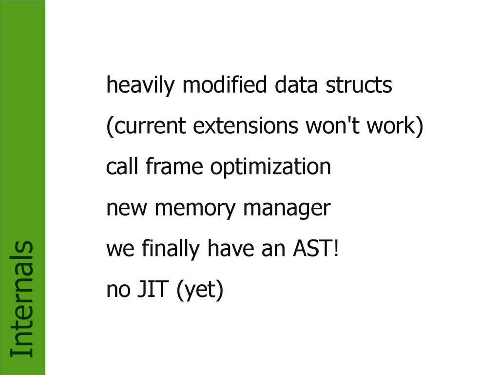 Internals heavily modified data structs (curren...