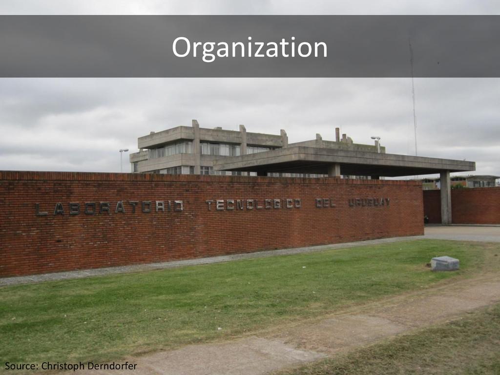 Organization Source: Christoph Derndorfer