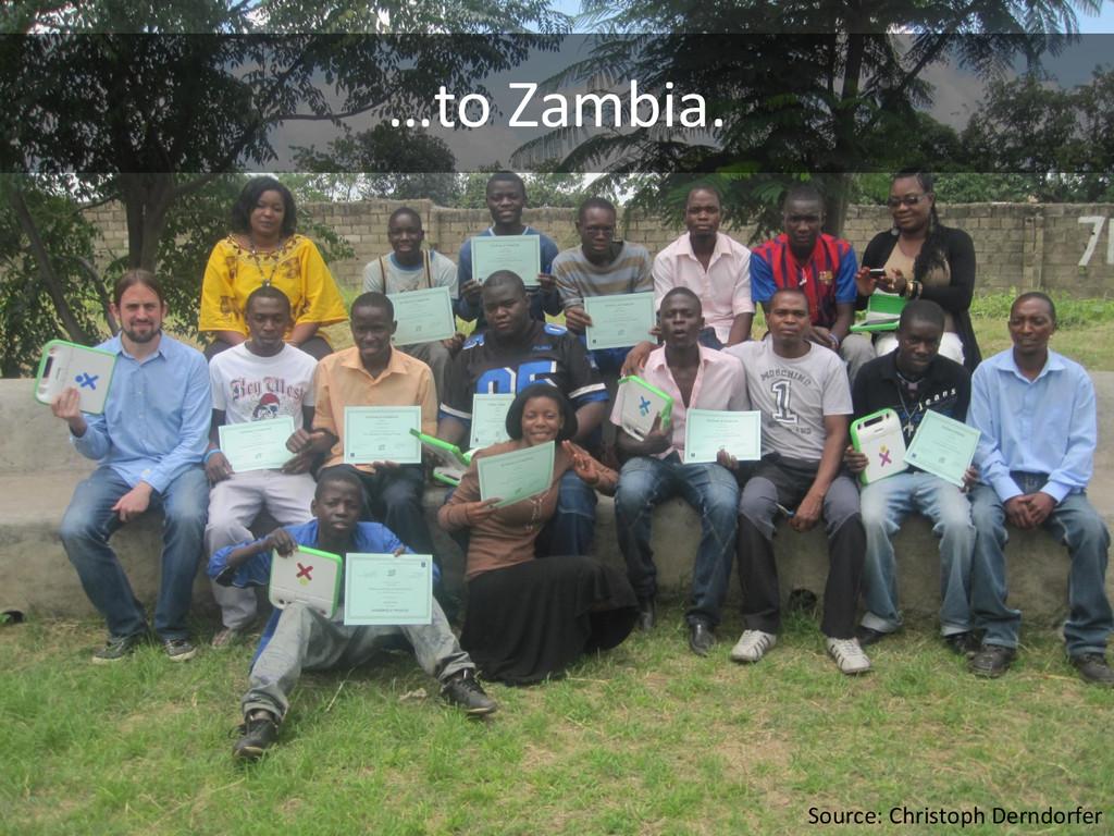 …to Zambia. Source: Christoph Derndorfer