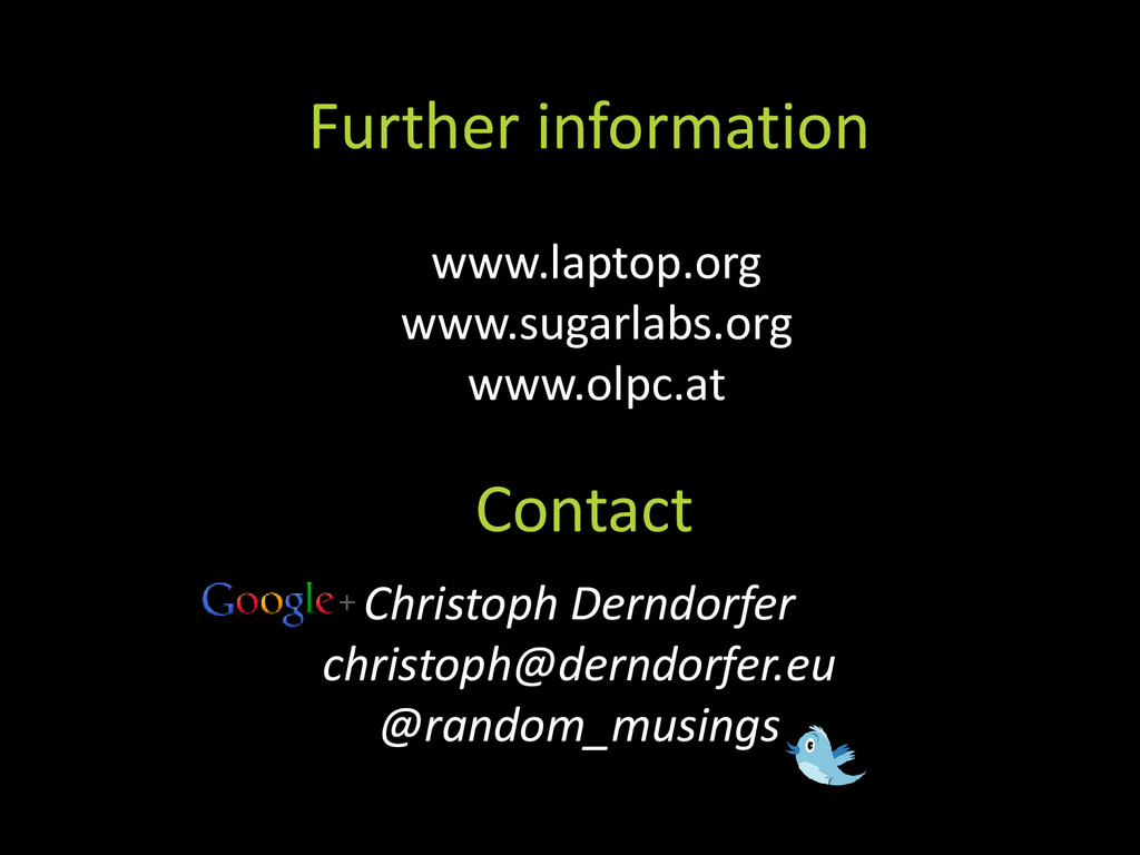 Contact Further information Christoph Derndorfe...