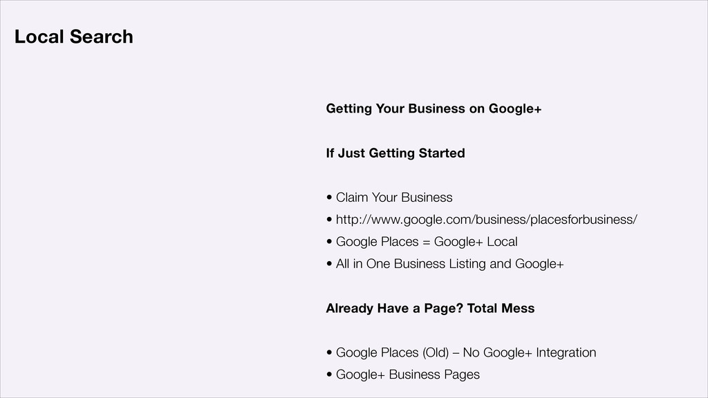 Getting Your Business on Google+ ! If Just Gett...