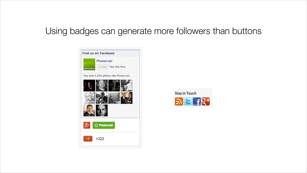 Using badges can generate more followers than b...