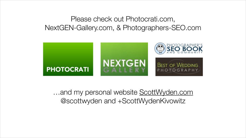 Please check out Photocrati.com, NextGEN-Galler...