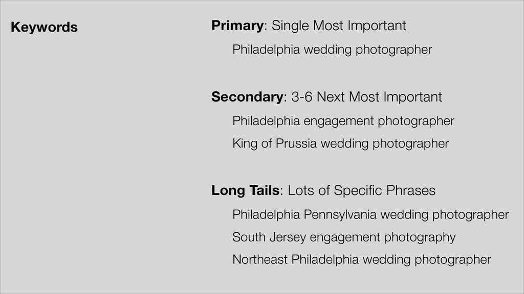Primary: Single Most Important Philadelphia wed...