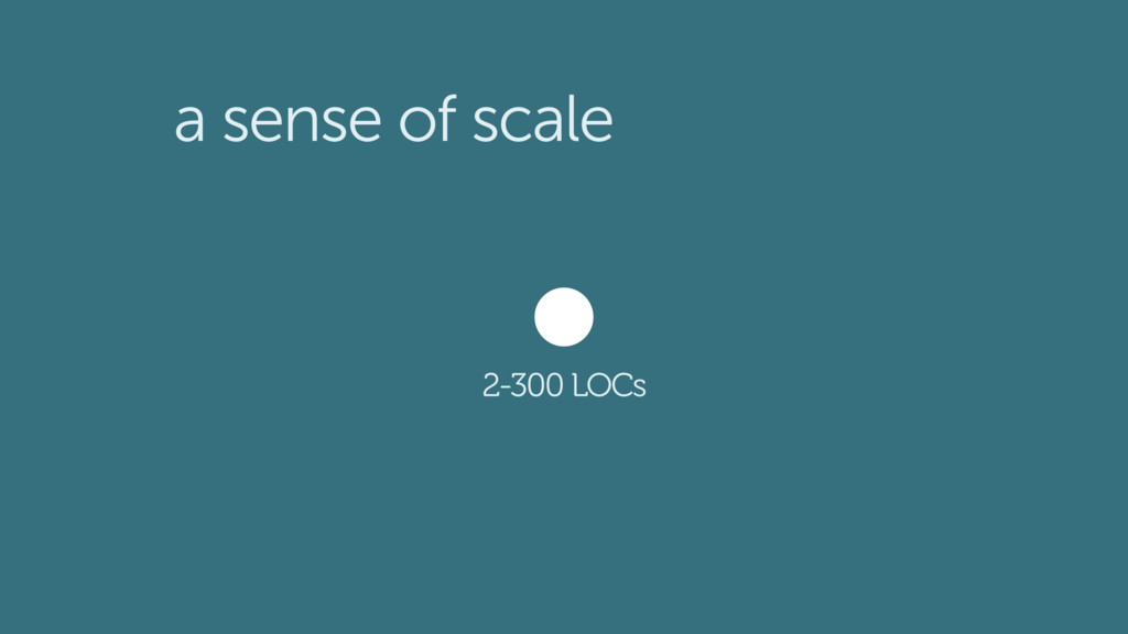 a sense of scale 2-300 LOCs