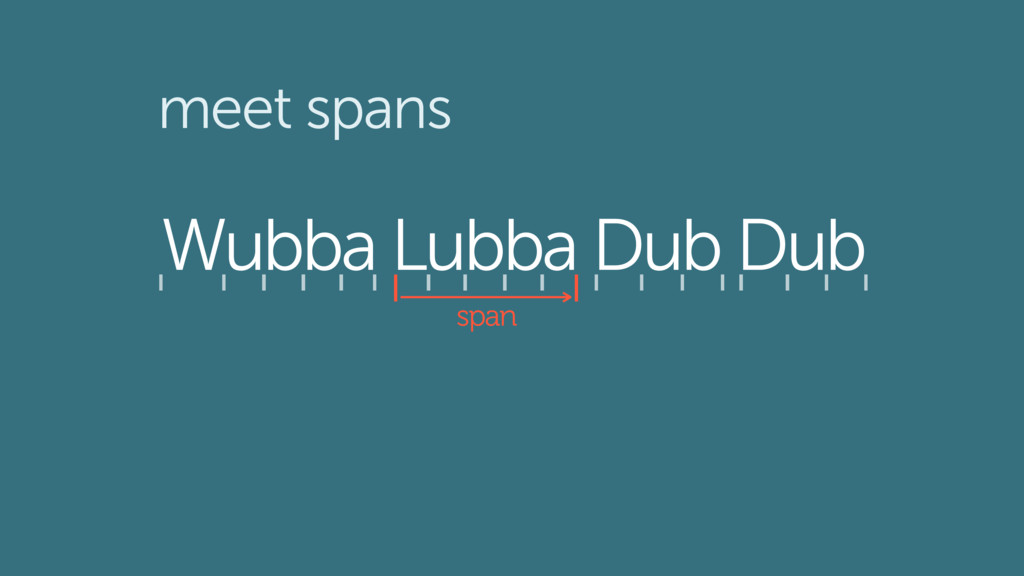 Wubba Lubba Dub Dub span meet spans