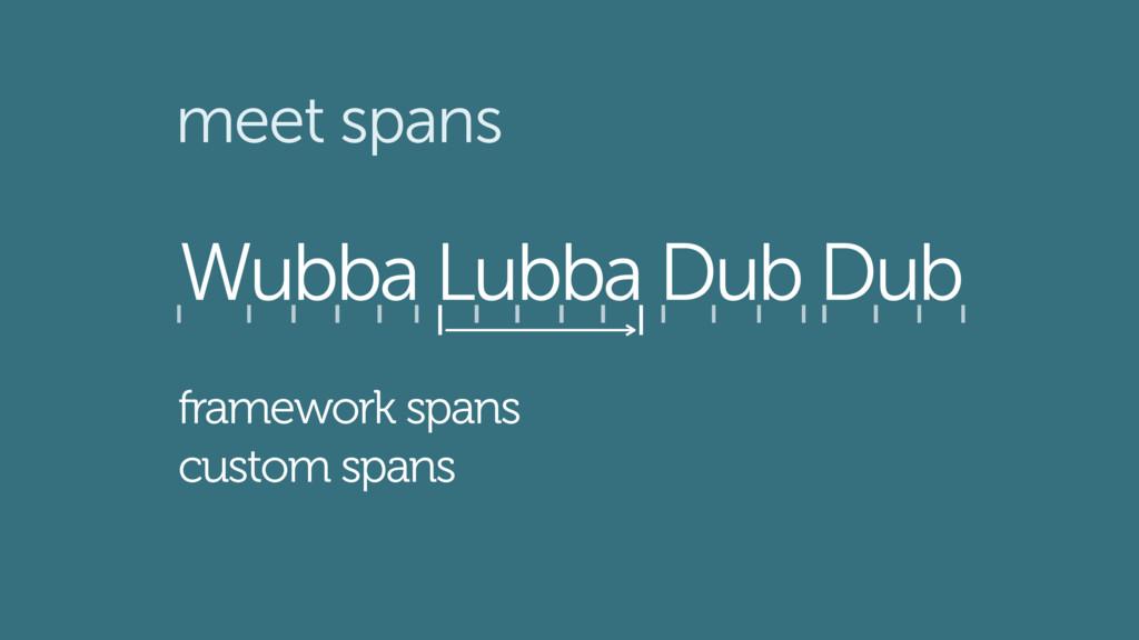 Wubba Lubba Dub Dub meet spans framework spans ...