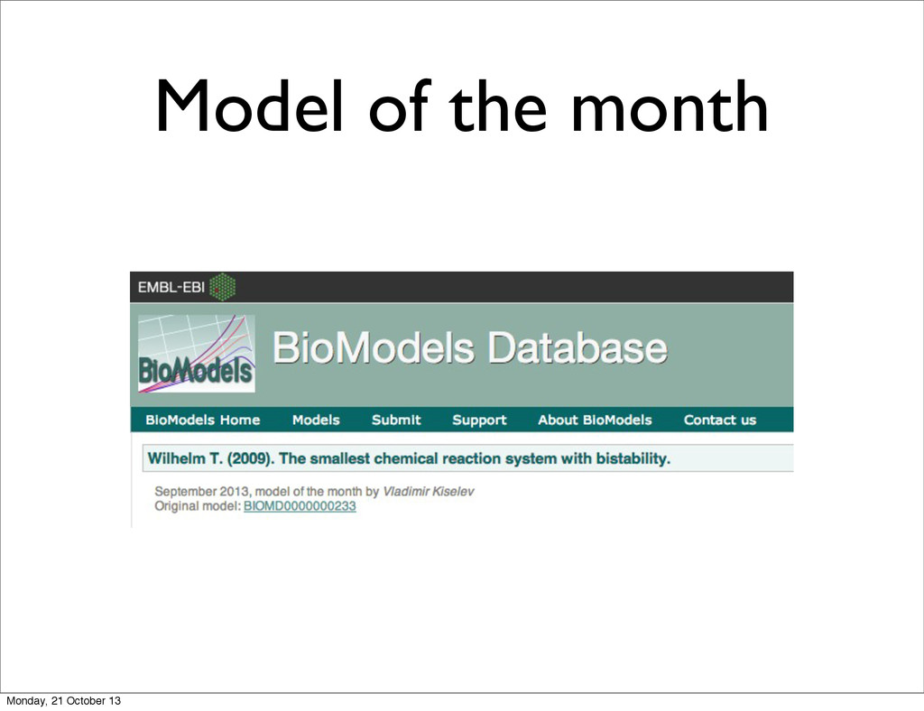 Model of the month Monday, 21 October 13