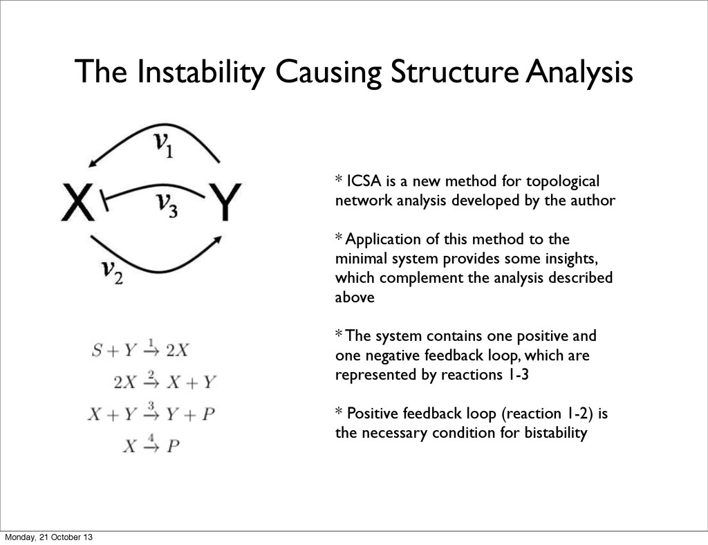 The Instability Causing Structure Analysis * IC...