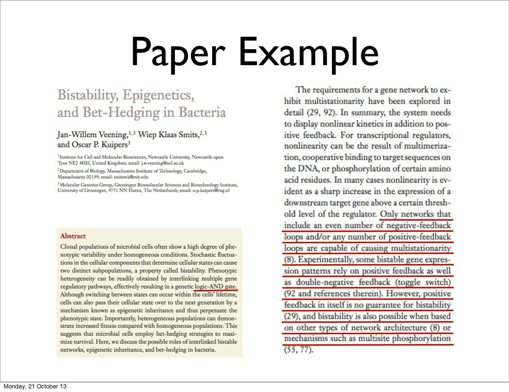 Paper Example Monday, 21 October 13