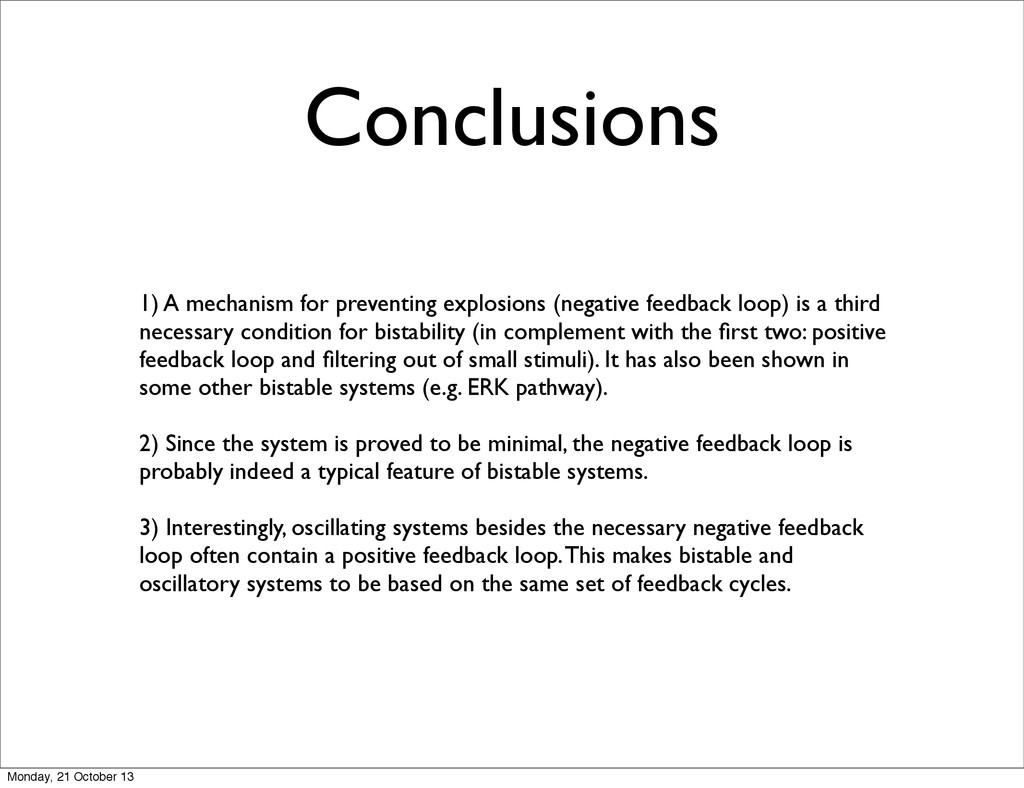1) A mechanism for preventing explosions (negat...
