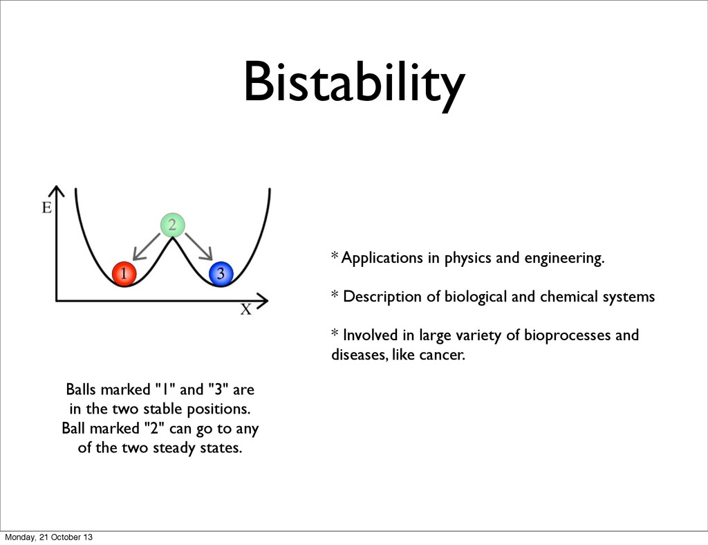 """Bistability Balls marked """"1"""" and """"3"""" are in the..."""