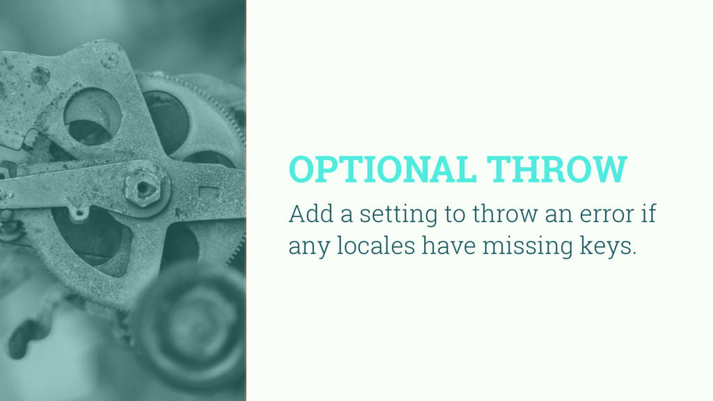 OPTIONAL THROW Add a setting to throw an error ...