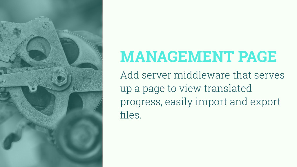 MANAGEMENT PAGE Add server middleware that serv...