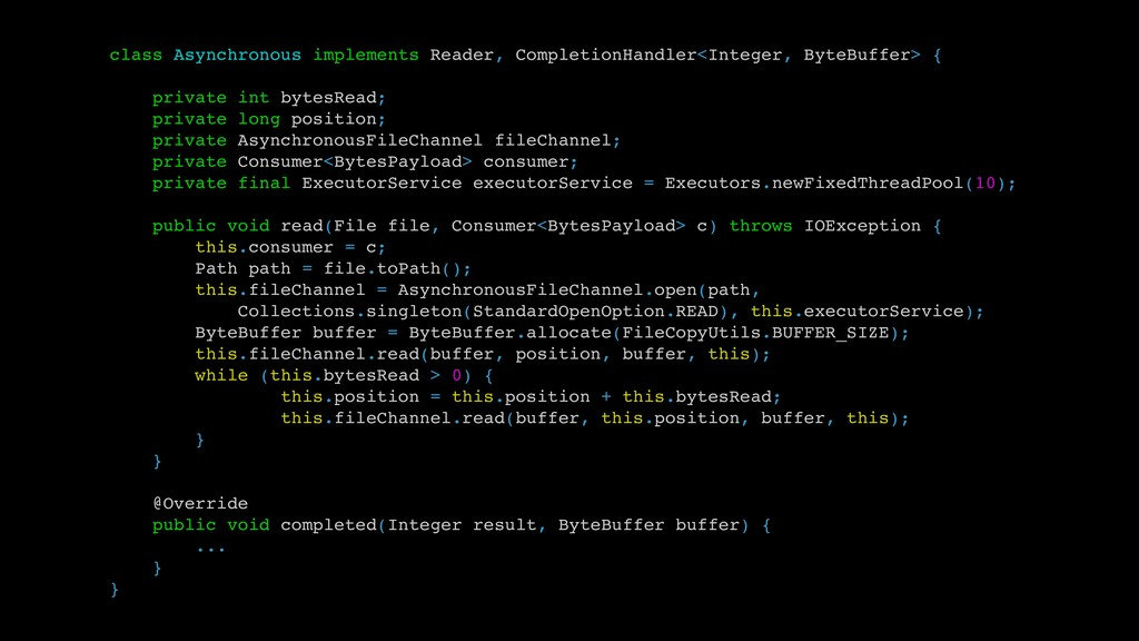 class Asynchronous implements Reader, Completio...