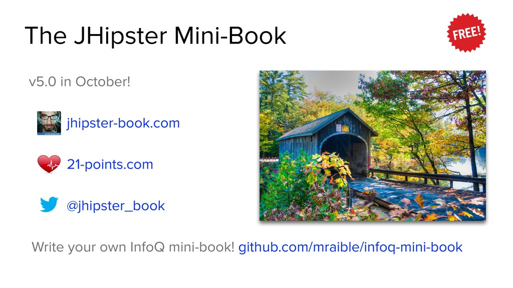 The JHipster Mini-Book v5.0 in October! jhipste...