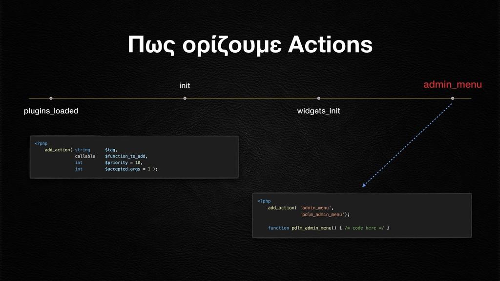plugins_loaded init widgets_init admin_menu Πως...