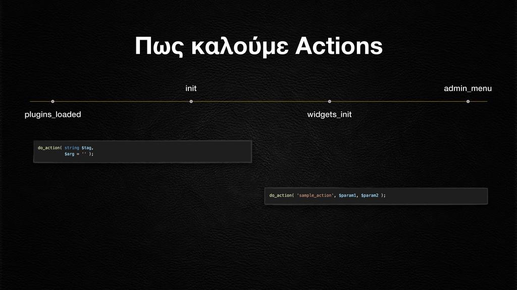 plugins_loaded init widgets_init Πως καλούμε Ac...