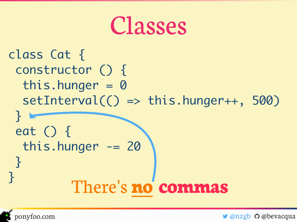 class Cat { constructor () { this.hunger = 0 se...