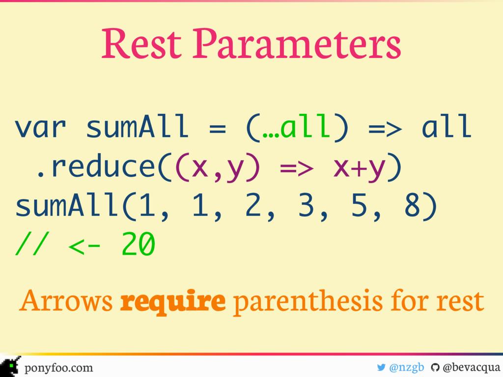 "! @nzgb "" @bevacqua ponyfoo.com Rest Parameters..."