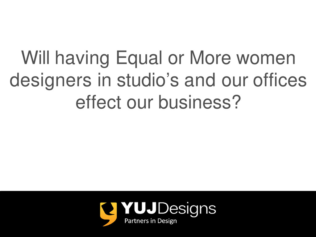 Will having Equal or More women designers in st...