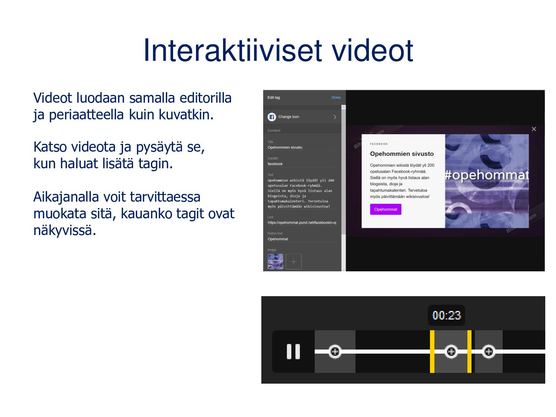 360-videot Alla olevassa videossa on neljä tagi...