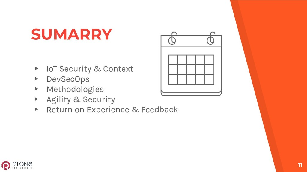 SUMARRY ▸ IoT Security & Context ▸ DevSecOps ▸ ...