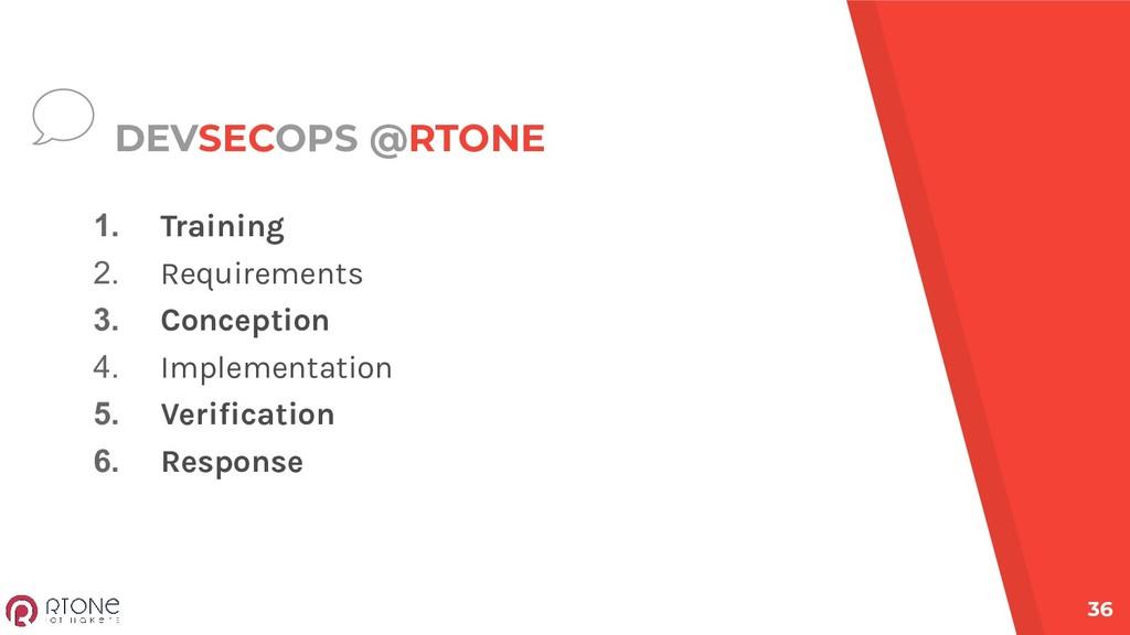 DEVSECOPS @RTONE 1. Training 2. Requirements 3....