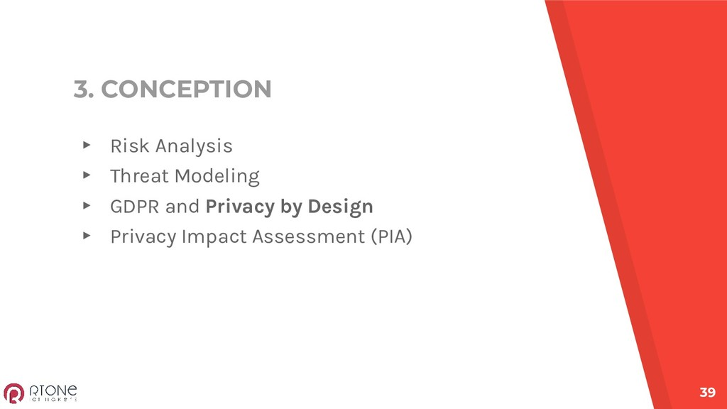 3. CONCEPTION ▸ Risk Analysis ▸ Threat Modeling...